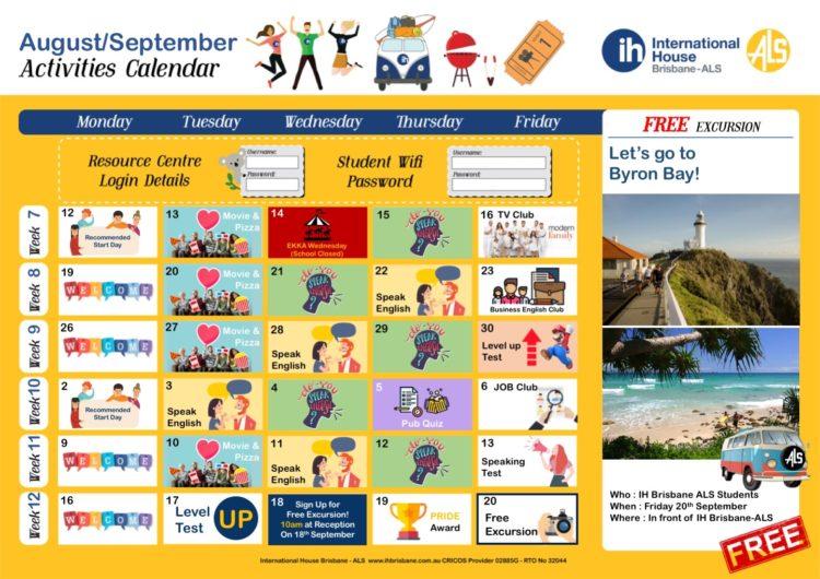 Activity Calendar August September54187 - インターナショナル・ハウス・ブリズベン・エーエルエス
